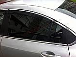 Ветровики с хромом, дефлекторы окон Mazda 6 2007-2012, фото 2