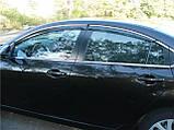 Ветровики с хромом, дефлекторы окон Mazda 6 2007-2012, фото 3