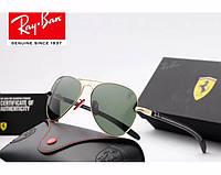 Женские солнцезащитные очки в стиле RAY BAN 8307 (001/51) Lux, фото 1