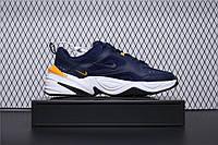"""Чоловічі кросівки репліка Nike M2K Tekno """"Navy/Yellow"""", фото 1"""