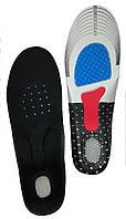Стелька кроссовочная до 44р Черная с силиконовой пяткой и супинатором, фото 1