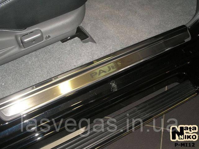 Накладки на пороги Mitsubishi Pajero Sport I 2005- (Nata-Nika)