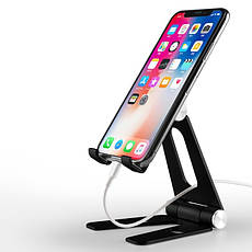 Подставка для телефона и планшета  Holder -V Чёрная, фото 2