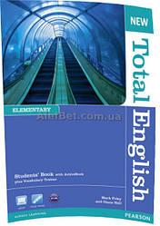 Английский язык / New Total English / Student's Book+ActiveBook. Учебник, Elementary/ Pearson