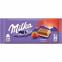 Шоколад Milka Strawberry yoghurt 100г