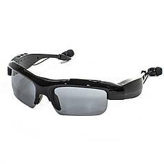 ★Бездротова гарнітура-окуляри Lesko HBS-361 Black Bluetooth 4.2+EDR, microUSB MP3 сонцезахисні смарт очки