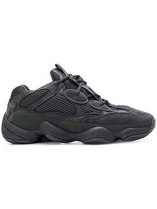 Мужские Кроссовки Adidas YEEZY 500 BOOST KANYE WEST YEEZY Black/Black, фото 2