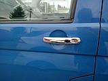 Хром накладки на ручки Volkswagen Transporter T5/Caddy/Touran 2003-, фото 3