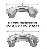 Манжета гидравлическая 80х60х10 ГОСТ 6969-54