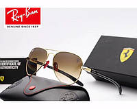 Женские солнцезащитные очки в стиле RAY BAN 8307 (001/51 brown) Lux