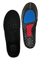 Стелька 36-40 Черная кроссовочная с силиконовой пяткой и супинатором скрытая, фото 1