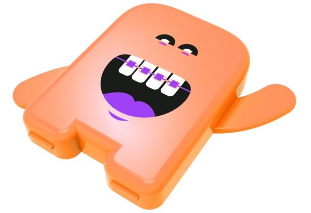 Контейнер ортодонтичний для резинок Angie - 1 шт, помаранчевий