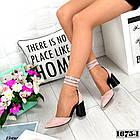 Женские пудровые туфли Elegant, из натурального велюра 37 ПОСЛЕДНИЕ РАЗМЕРЫ, фото 3