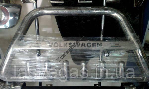 Защита переднего бампера. Кенгурятник Volkswagen Transporter T-5