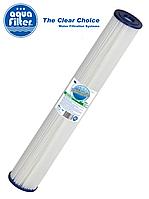 """Картридж многоразовый из гофрированного полиэстера Slim 20"""" AquaFilter FCCEL20-L 20 мкм"""