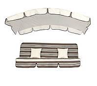 Комплект для садовых качелей Deli Т.-коричнево-бежевые полосы, 8230 / Св.-бежевый однотон, 2730 (ОСТ-ФРАН ТМ)