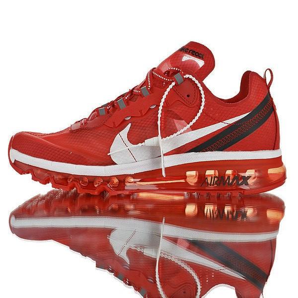 "Кроссовки Nike Air Max x React Element 87 ""Красные"""
