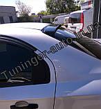 Козырек, cпойлер заднего стекла (дефлектор) Chevrolet Aveo 1-3 sed. 2000- (Fly), фото 2