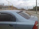 Козырек, cпойлер заднего стекла (дефлектор) Chevrolet Aveo 1-3 sed. 2000- (Fly), фото 5