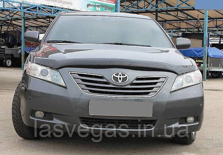 Дефлектор капота (мухобойка) Toyota Camry 40 2007-2011 (Sim)