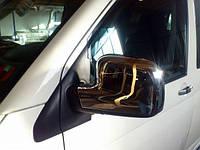 Накладки на зеркала  Volkswagen Transporter T5 2003-2010 (Пластик/Турция)