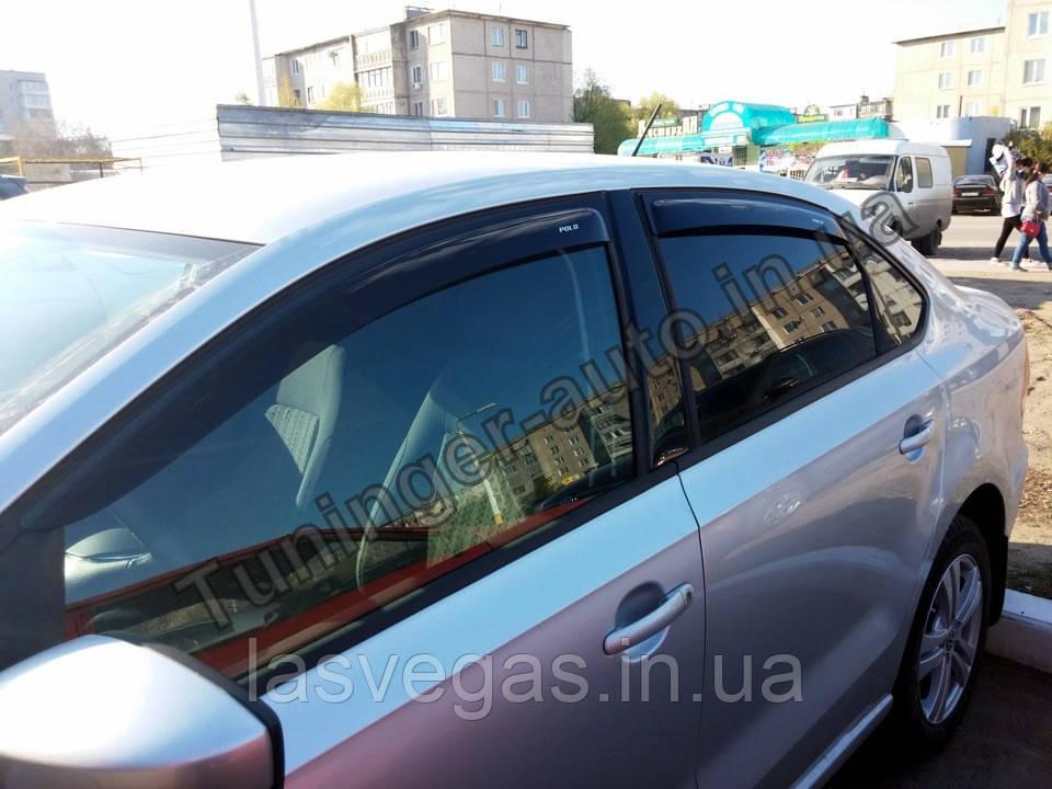 Ветровики, дефлекторы окон Volkswagen Polo Sedan 2010+ (ANV)