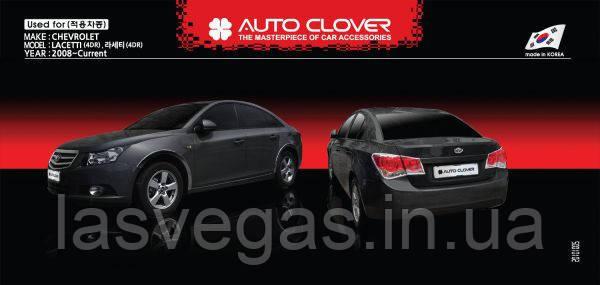 Хром окантовка задних стопов Chevrolet Cruze sedan. 2008+ (Autoclover)