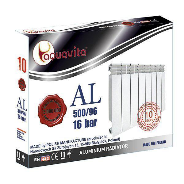 Алюмінієвий Радіатор Опалення Aquavita 500х96 C6 16 Бар