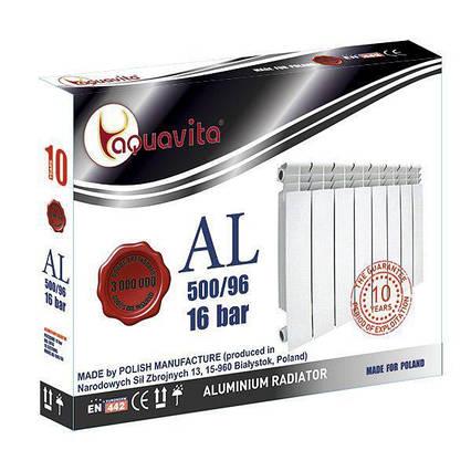 Алюминиевый Радиатор Отопления Aquavita 500х96 C6 16 Бар