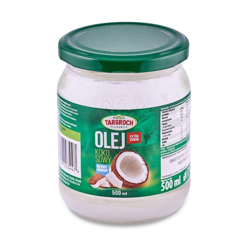 Кокосовое масло нерафинированноеTARGROCH 500 мл