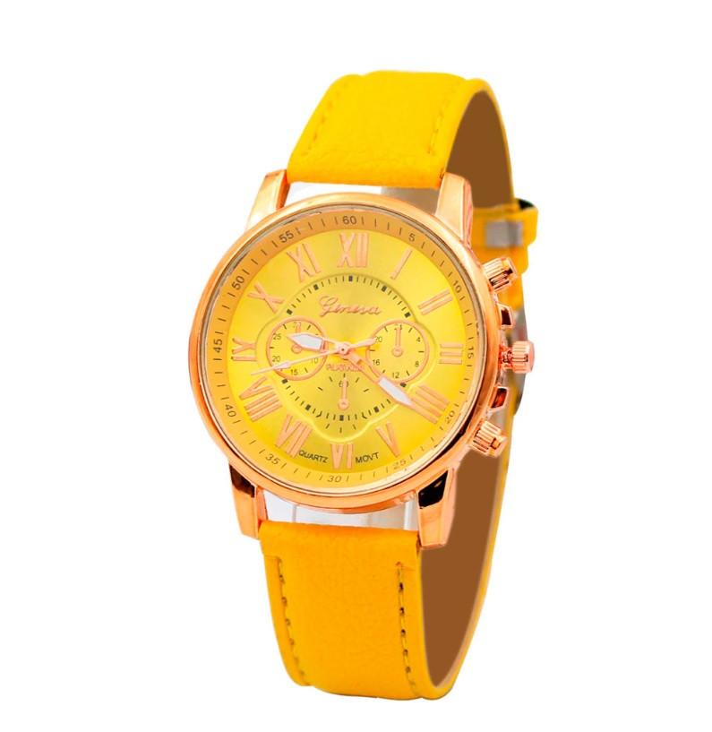 Часы Blue Ray/кварцевые/цвет ремешка желтый