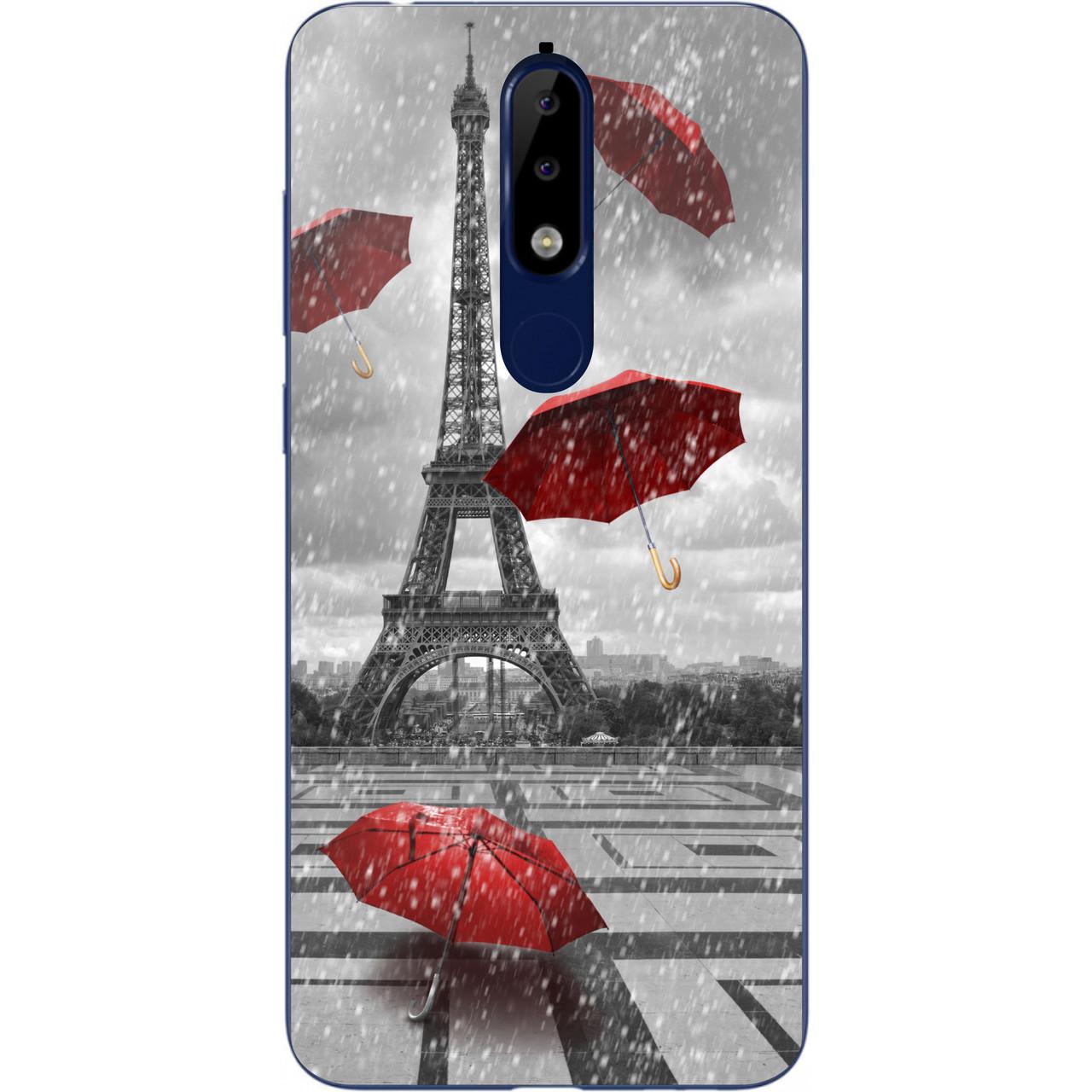 Бампер силіконовий чохол для Nokia 5.1 2018 з картинкою Париж