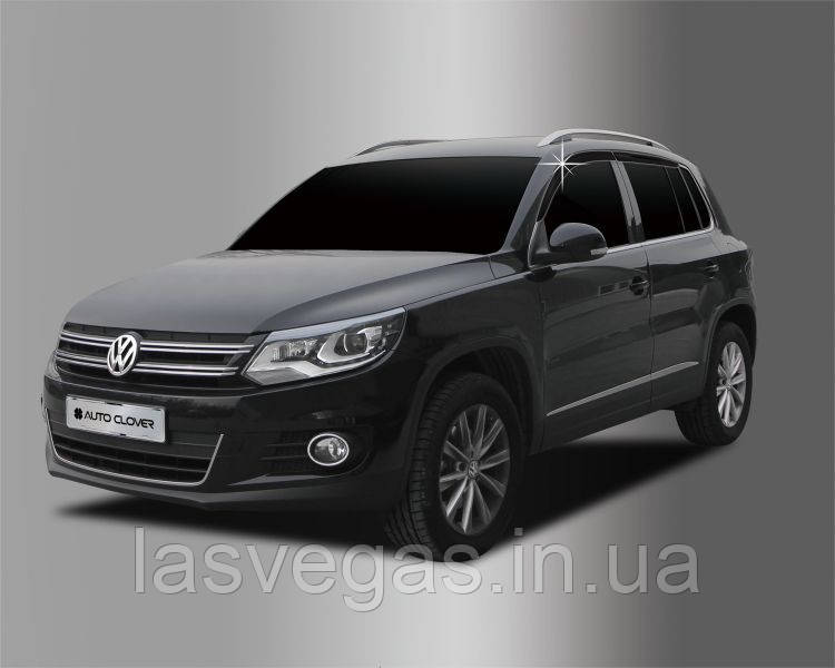 Ветровики, дефлекторы окон Volkswagen Tiguan 2007+(Autoclover)