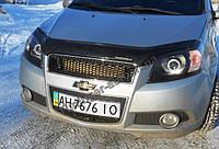 Мухобойка, дефлектор капота Chevrolet Aveo 3 HB. 2006- (Fly)