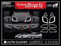 Декоративные хром накладки на панель Hyundai Accent 2010-