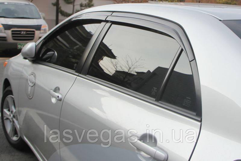 Ветровики, дефлекторы окон Toyota Corolla 2007-2012 (Autoclover) A169