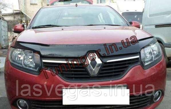Мухобойка, дефлектор капота Renault Logan 2012-