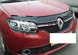 Мухобойка, дефлектор капота Renault Logan 2012-, фото 2