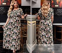 Летнее платье с принтом, с 46-60 размер, фото 1