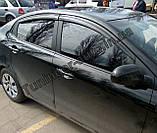 Ветровики, дефлекторы окон Kia Rio 2011- (Autoclover), фото 3