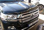 Мухобойка , дефлектор капота Toyota Land Cruiser 200 2015- (Sim), фото 2