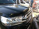 Мухобойка , дефлектор капота Toyota Land Cruiser 200 2015- (Sim), фото 3
