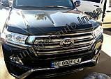 Мухобойка , дефлектор капота Toyota Land Cruiser 200 2015- (Sim), фото 4