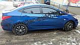 Ветровики, дефлекторы окон Hyundai Accent 2010г -> (Hic), фото 2