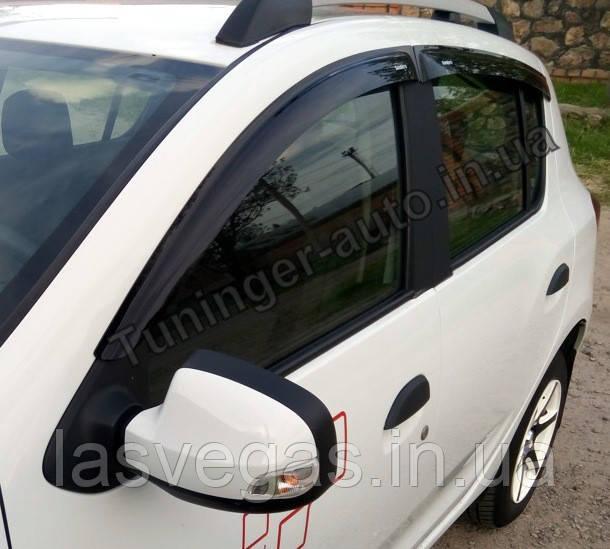 Дефлекторы окон (ветровики) Renault Sandero 2013- (ANV)