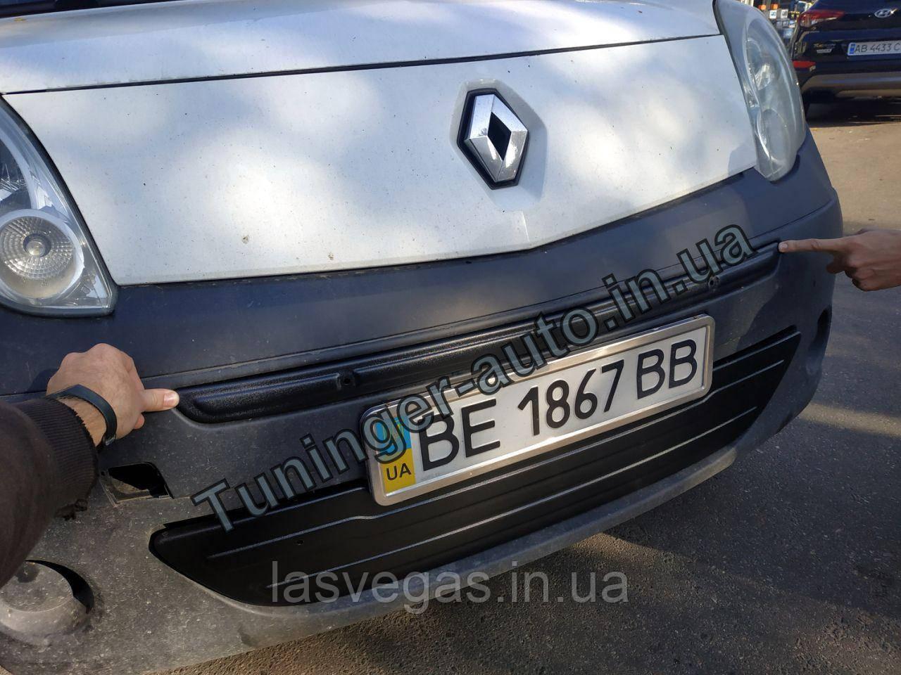 Зимняя накладка на решетку Renault Kangoo 2008-2013г.в. (Верх)