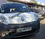 Зимняя накладка на решетку Renault Kangoo 2008-2013г.в. (Верх), фото 3