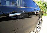 Хром накладки на ручки Kia Rio 2011- (Clover/Корея) B832, фото 3
