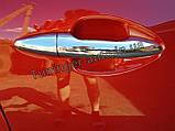 Хром накладки на ручки Kia Rio 2011- (Clover/Корея) B832, фото 4