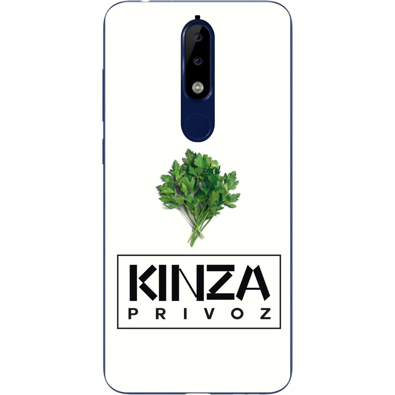 Антибендовый силиконовый чехол для Nokia 5.1 2018 с картинкой Kinza Privoz